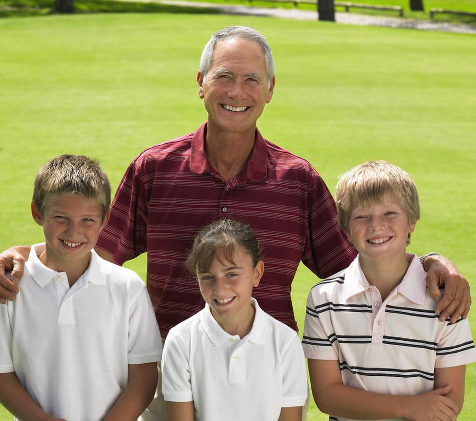 Golf avec grand-père