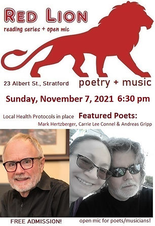Red Lion Reading Series and Open Mic November 7, 2021 Event Poster.jpg