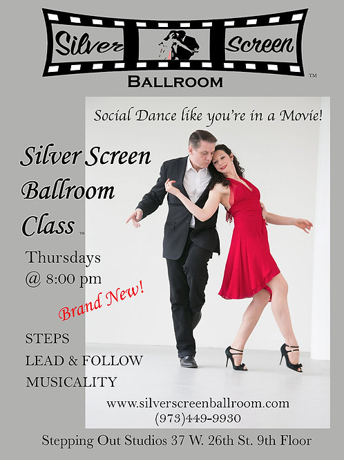Silver Screen Group Class: 4 Sessions