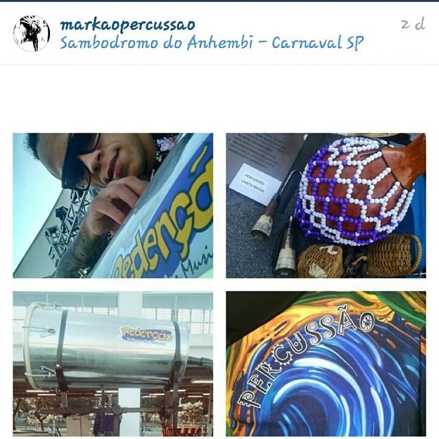 Instagram - #TeamRedenção #TimeDeRespeito @markaopercussao