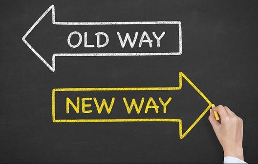 Sign old way new way