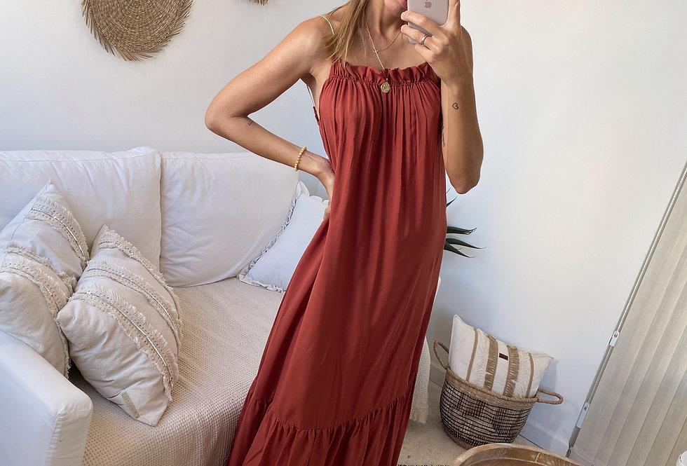 Classy Paz Dress/Brick