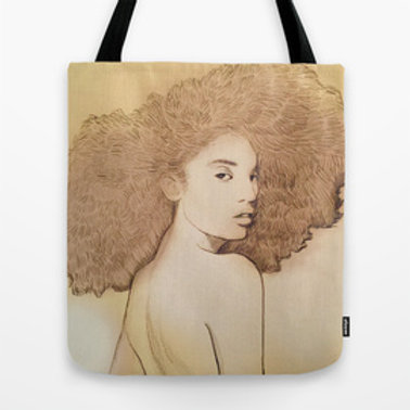 Afro Queen Tote Bag