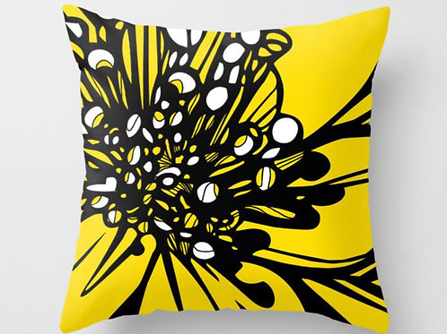 Yellow Lily Pillow