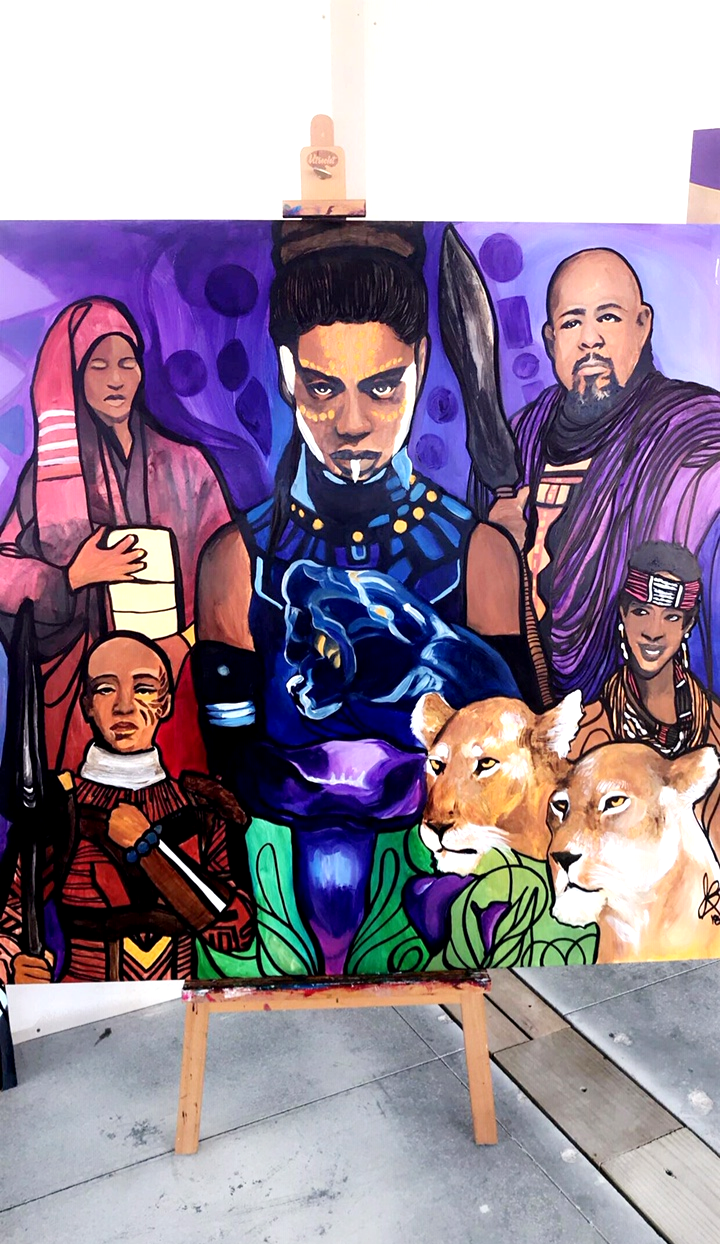 Wakanda Inspired Mural