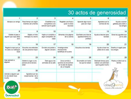 30 acciones de generosidad (Actividad)
