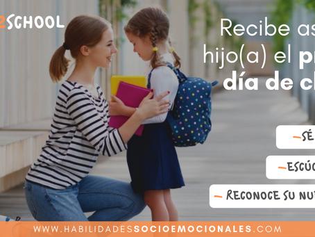 ¿Cómo recibir a tu hijo este primer día de clases?