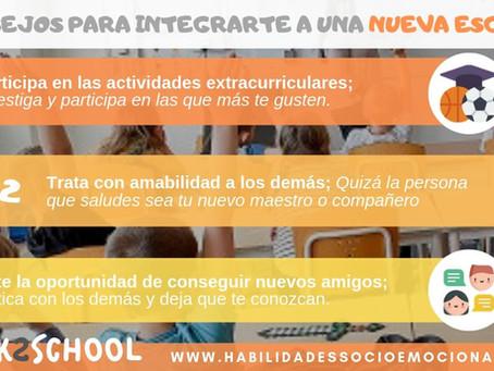 Consejos para integrarte a una nueva escuela