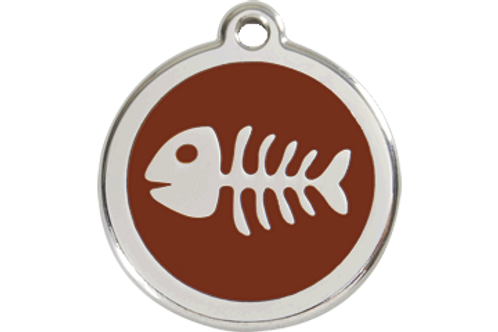 Médaille en émail Arête de poisson
