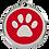 Thumbnail: Médaille en émail Patte