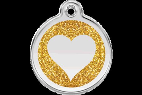 Médaille avec paillettes Coeur