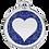 Thumbnail: Médaille avec paillettes Coeur