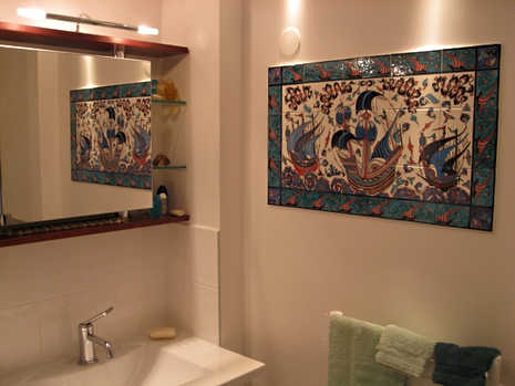 Galleons in Bathroom Interior