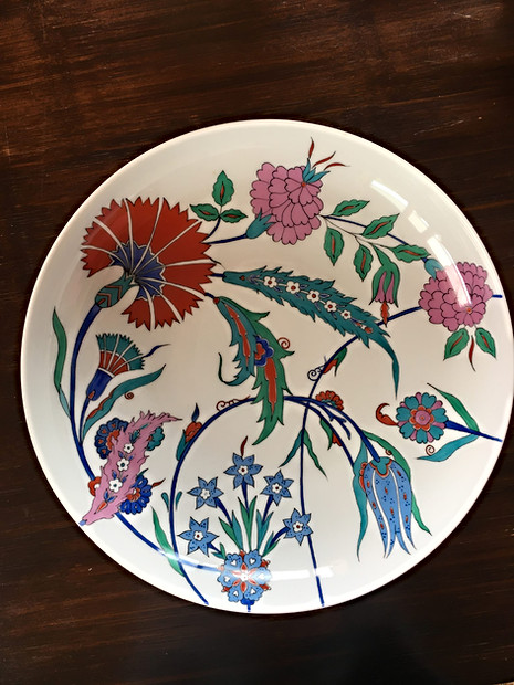 Coupe de fruits en porcelaine