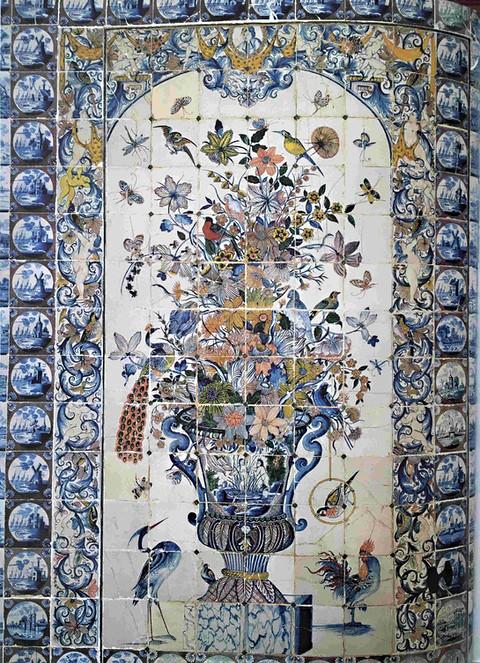 Décor mural de château