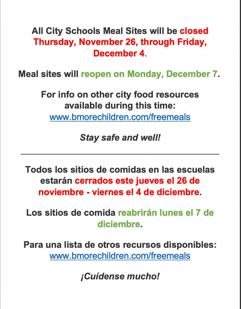 City Schools Meals