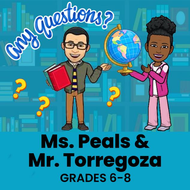 Ms. Peals & Mr. Torregoza