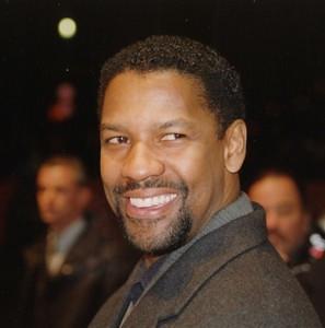 Denzel Washington Smiling in a formal suit
