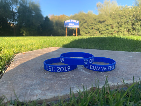 BLW Blue/White Wristband