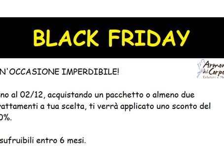 IL BLACK FRIDAY E' INIZIATO!