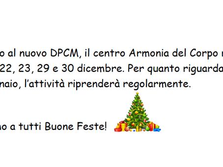 Comunicazione DPCM Natale