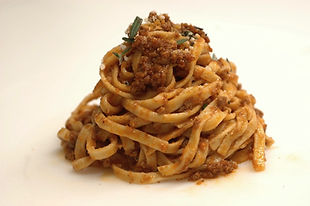 home made pasta with bolognese