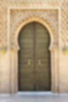 Arabic oriental styled door in Rabat, Mo