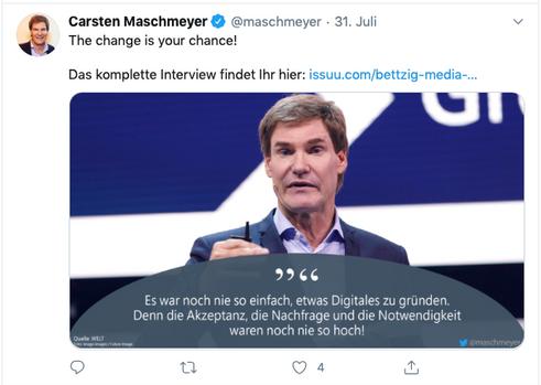 Repost Hr. Maschmeyer - Twitter
