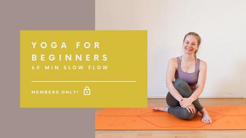 Yoga for Beginners | Slow Flow Vinyasa | 60 min