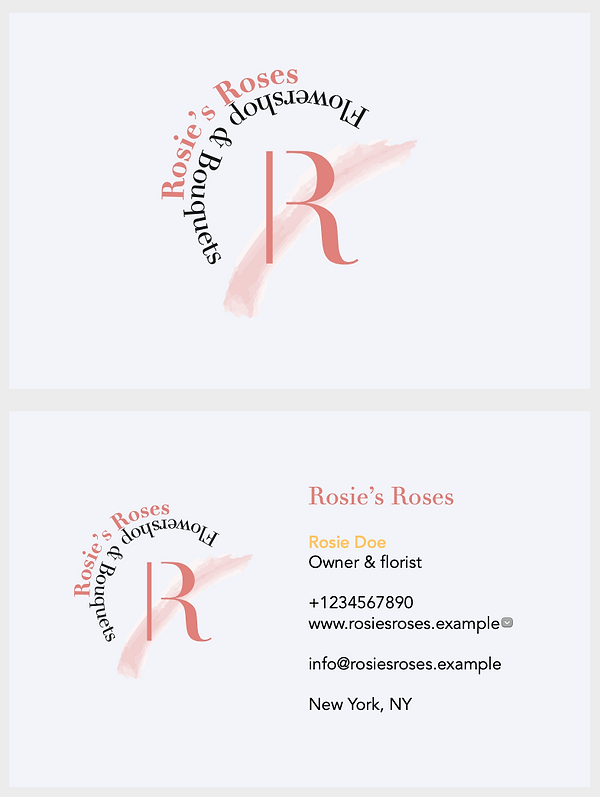 Rosie's Roses Business Cards
