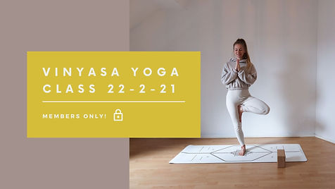 Vinyasa Yoga class 22.2.21