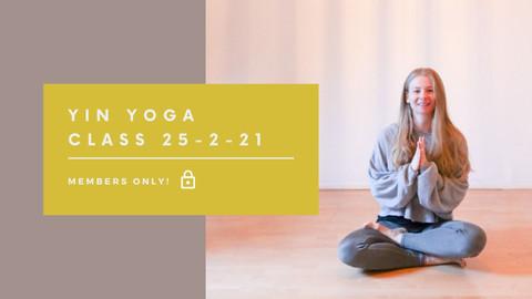 Yin Yoga class | 40 min