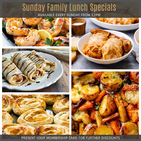 Sunday Family Lunch Specials_Club Punchb