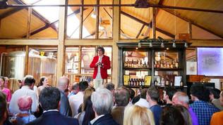 MD Alaric Neville greeting everyone to the new Albion Brewery Bar Aug 2015