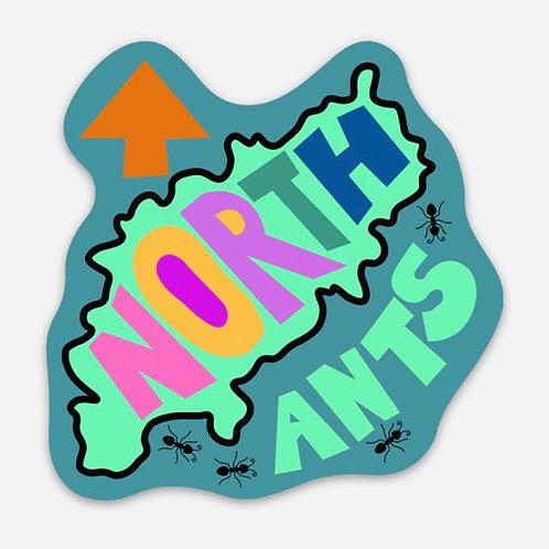 Northants Die Cut Sticker