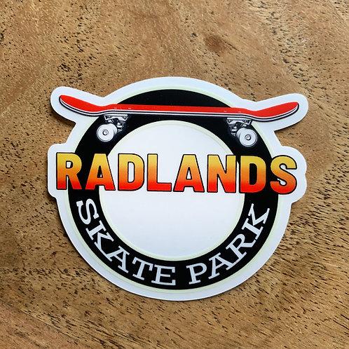 Radlands Skate Park Die Cut Sticker