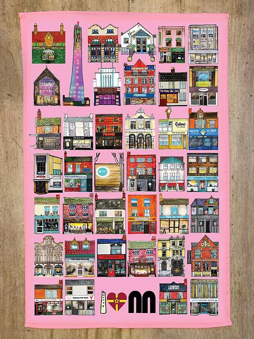 Pink Tea Towel -  v.2