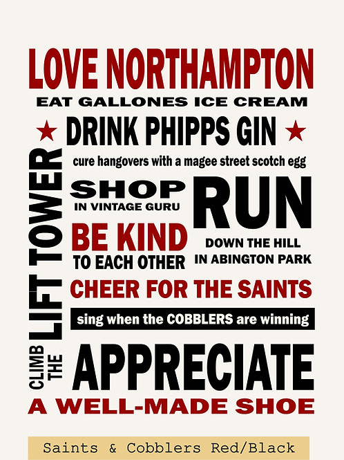Love Northampton Poster