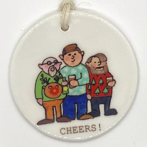 Cheers Beers Ceramic Ornament
