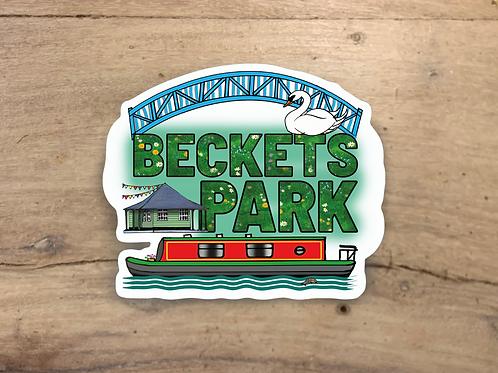 Beckets Park Die Cut Sticker