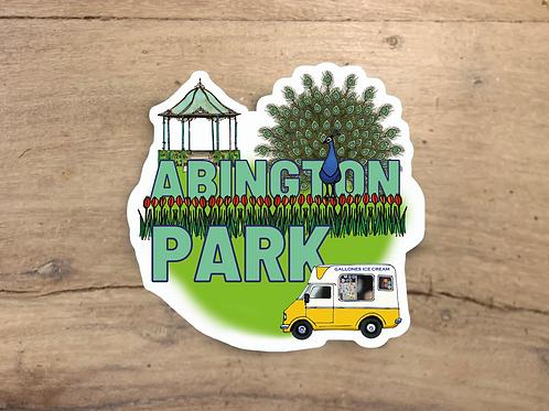 Abington Park Die Cut Sticker
