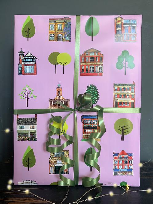 Street Trees Gift Wrap