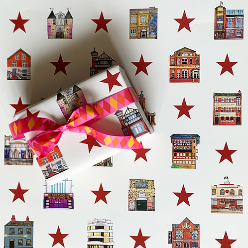 Red Star Gift Wrap