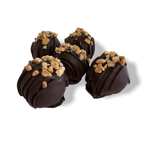 Vegan Hazelnut Brownie Truffles