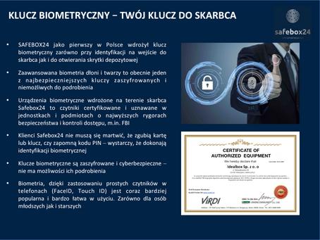 Klucz biometryczny - Twój klucz do skarbca