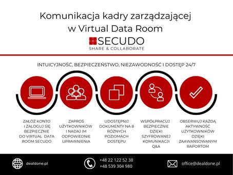 Poufność i bezpieczeństwo komunikacji Zarządu, Rady Nadzorczej - VDR SECUDO jako portal Board Room