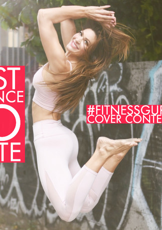 social media contest promo graphic for fitness client