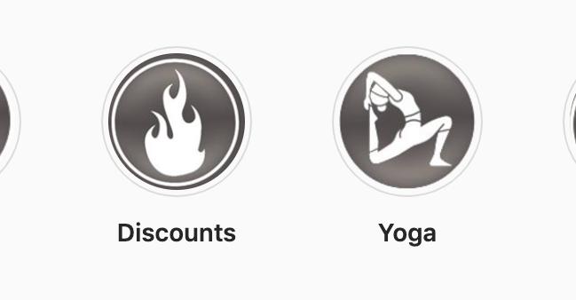 original social media icon design for fitness client