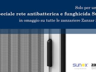 Per tutto il mese di Aprile, speciale rete antibatterica Sunox in Omaggio!