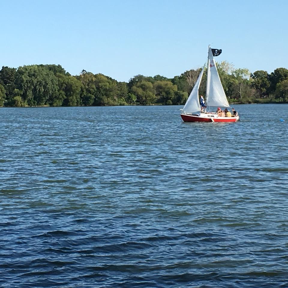 sailboat on Lake Nokomis in Minneapolis